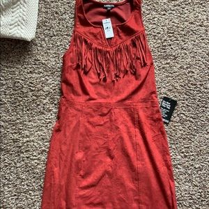 Express suede dress size xs